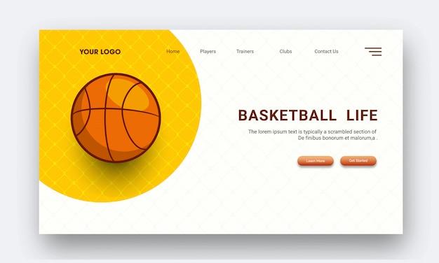 Torneo de baloncesto basado en la página de aterrizaje