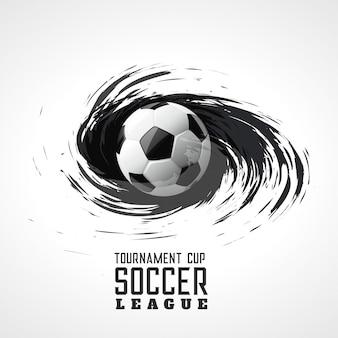 Torneo de fútbol abstracto remolino grunge fondo