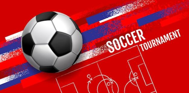 Torneo de fútbol, diseño deportivo de plantilla