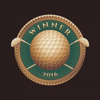 Torneo de golf, logotipo de competición