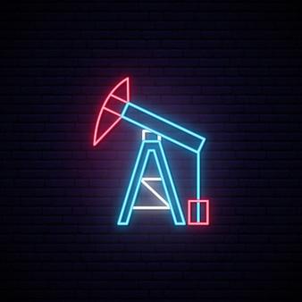 Torre de aceite letrero de neón.