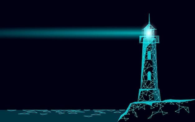 La torre del faro emite lámparas de luz y lentes de navegación.