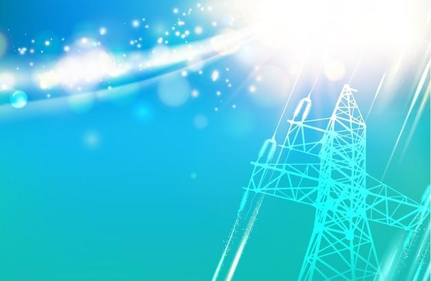 Torre de transmisión de energía eléctrica