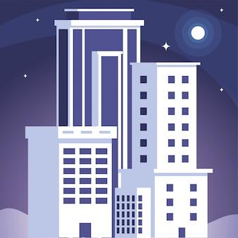 Torres de apartamentos y edificios de oficinas, paisaje urbano.