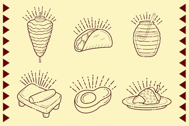 Tortilla y burritos comida mexicana