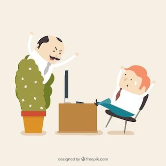 Trabajador inactivo sorprendido
