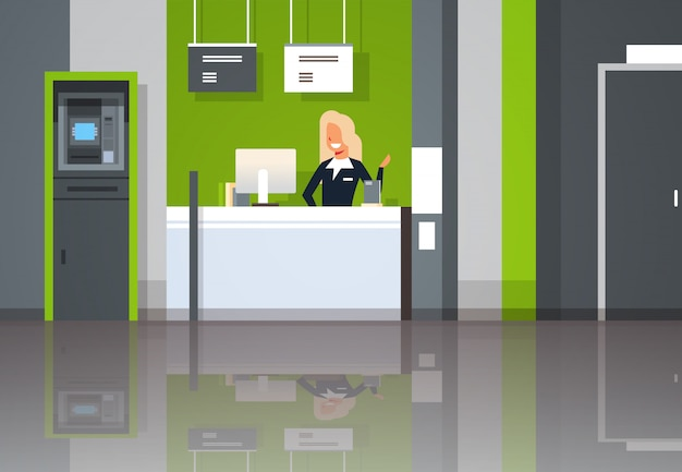 Trabajadora bancaria