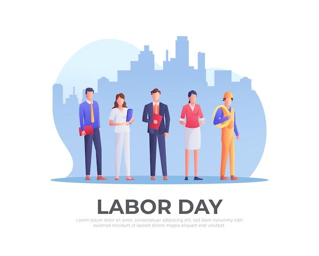 Trabajadores fijados para el día del trabajo