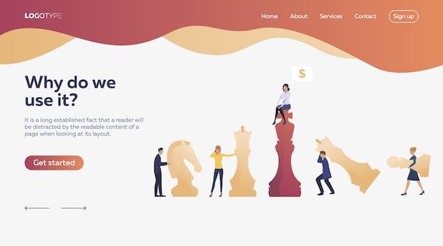 Trabajadores jugando ajedrez