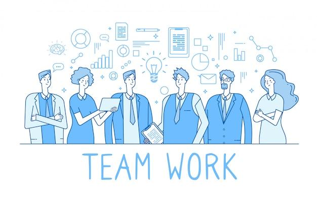 Trabajadores de oficina creativos del equipo de negocios
