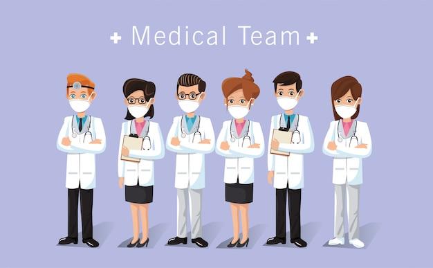 Trabajadores del personal médico gracias diseño de ilustración de mensaje