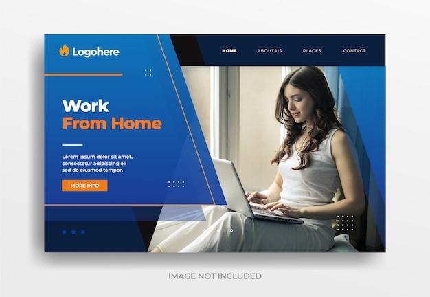 Trabajar desde casa banner de negocios