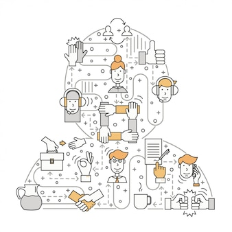Trabajar con el concepto de clientes en estilo de línea plana
