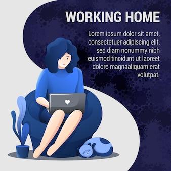 Trabajar desde el concepto de hogar publicación en redes sociales