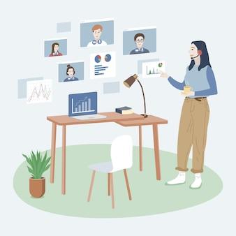 El trabajo desde casa se convierte en una nueva normalidad, ajustándose a una nueva normalidad.