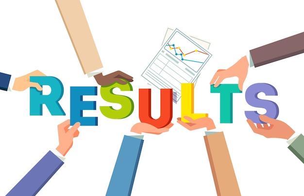 Trabajo en equipo concepto de logro de resultados
