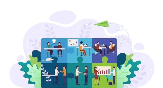 Trabajo en equipo, cooperación y colaboración.