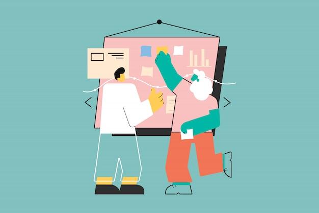 Trabajo en equipo, coworking, negocios, planificación, concepto de análisis.