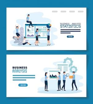 El trabajo en equipo establece escenas de análisis infográfico
