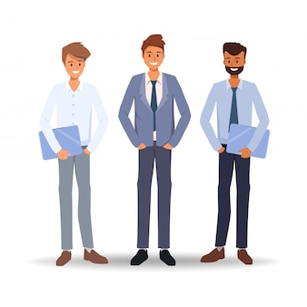 Trabajo en equipo de gente de negocios trabajando co