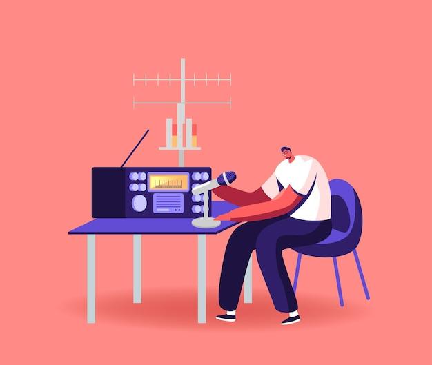 Trabajo de personaje en la ilustración de radio