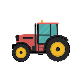 Tractor icono de estilo plano.