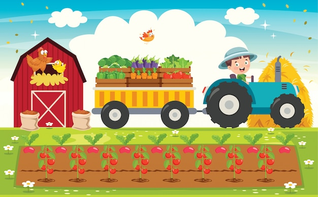 Tractor de montar divertido little farmer