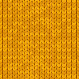Tradicional patrón de punto naranja sin costuras. fondo de invierno con un lugar para el texto. textura de fondo patrón sin costuras ilustración.