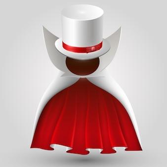 Traje creativo de arte de traje mágico. ilustración vectorial