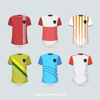 Traje de fútbol camisas