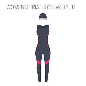 Traje húmedo de triatlón sin mangas para mujer.