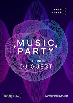 Trance party dj neon flyer