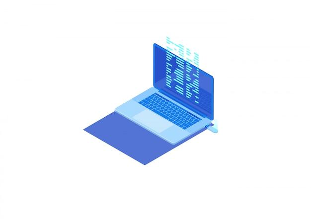 Transferencia de archivos desde una unidad flash a una computadora portátil