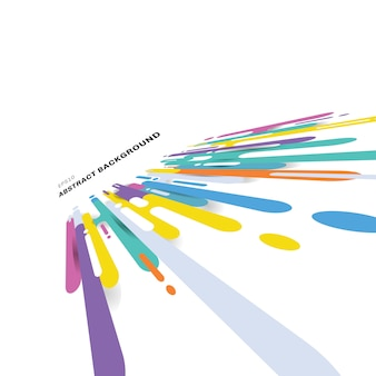 Transición de líneas redondeadas multicolor abstracto