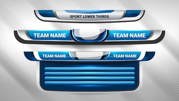 Transmisión de marcador deportivo y tercios inferiores