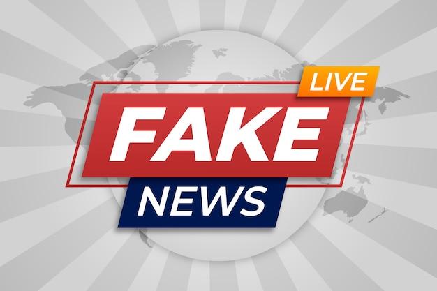 Transmisión de noticias falsas en vivo