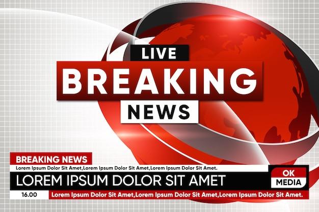 Transmisión de noticias de última hora