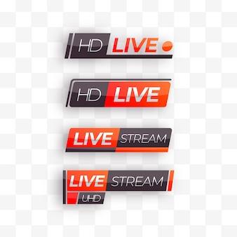 Transmisión en vivo de la colección de pancartas de noticias