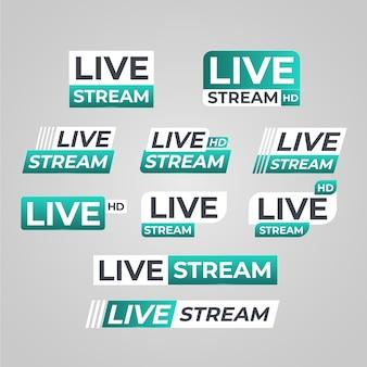 Transmisión en vivo de estilo de banners de noticias