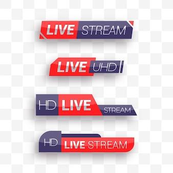 Transmisión en vivo de pancartas de noticias