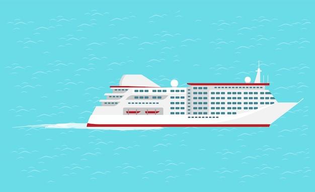 Transporte acuático crucero de barco de viaje
