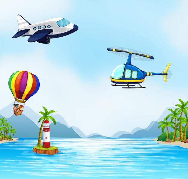 Transporte aéreo sobre el océano