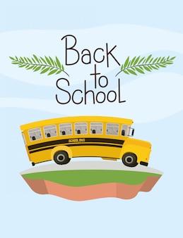 Transporte escolar en autobús en el terreno.