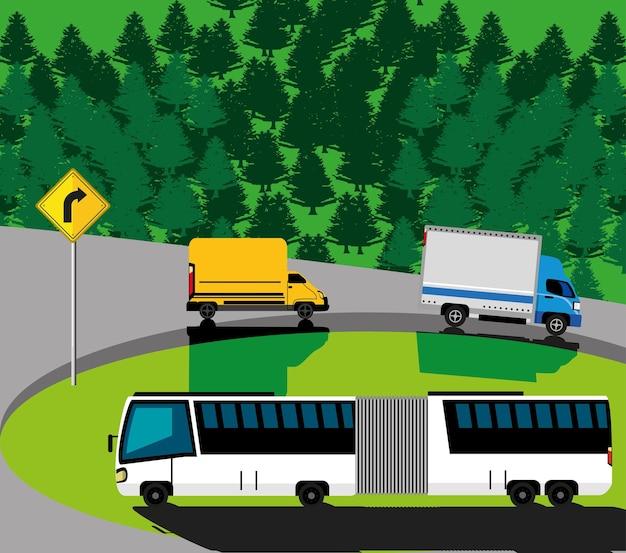 Transporte paisaje rural