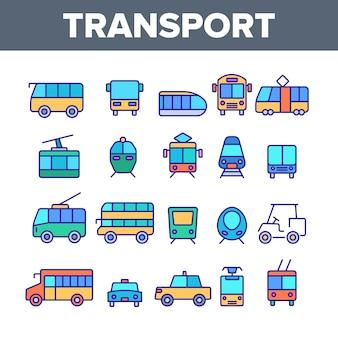 Transporte público y vehículo