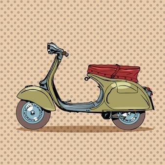 Transporte retro scooter vintage