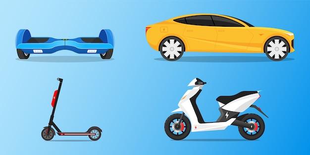 Transporte set bicicleta eléctrica coche hoverboard