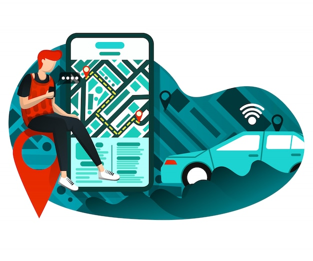 Transporte urbano online de negocios.