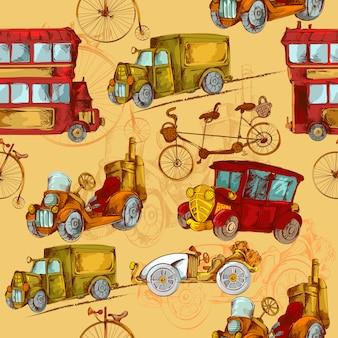 Transporte vintage sin costuras