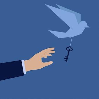 Trata de atrapar la mano del pájaro y saca la clave del éxito.